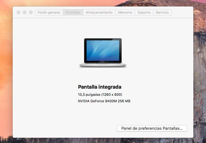 résolution d'écran macbook