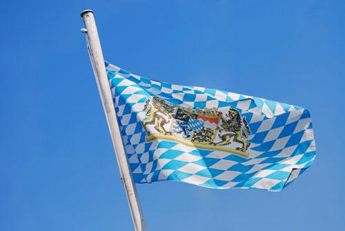 Logo BMW drapeau Bavière
