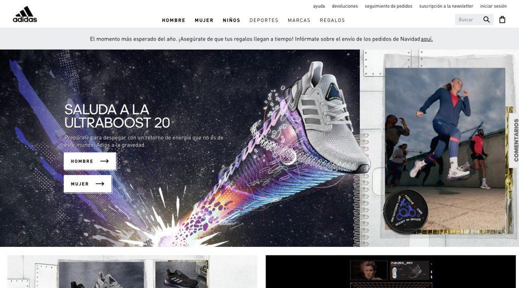 Tendances de la conception Web 3D adidas en 2020