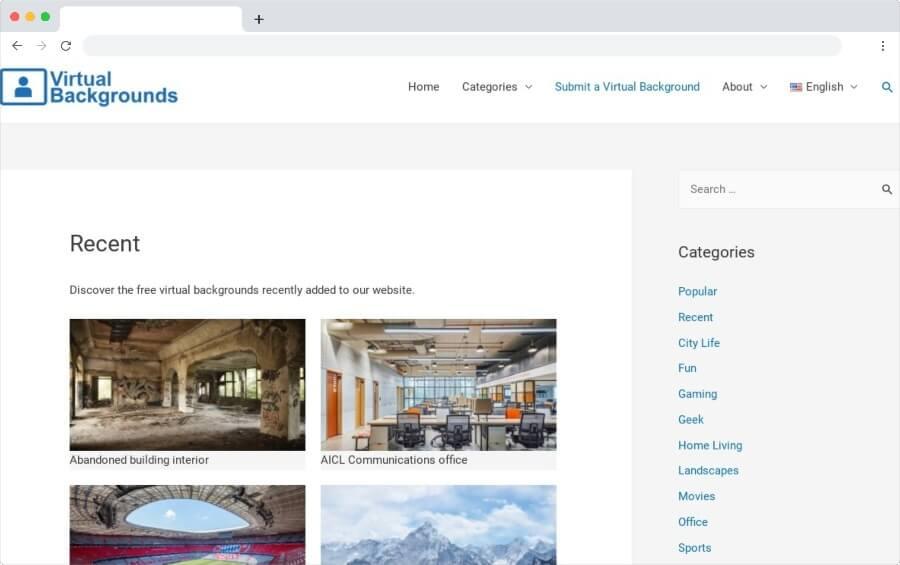 Arrière-plans virtuels: répertoire des arrière-plans virtuels pour les appels vidéo