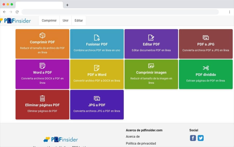 PDF Insider: collection d'outils gratuits pour éditer des fichiers PDF