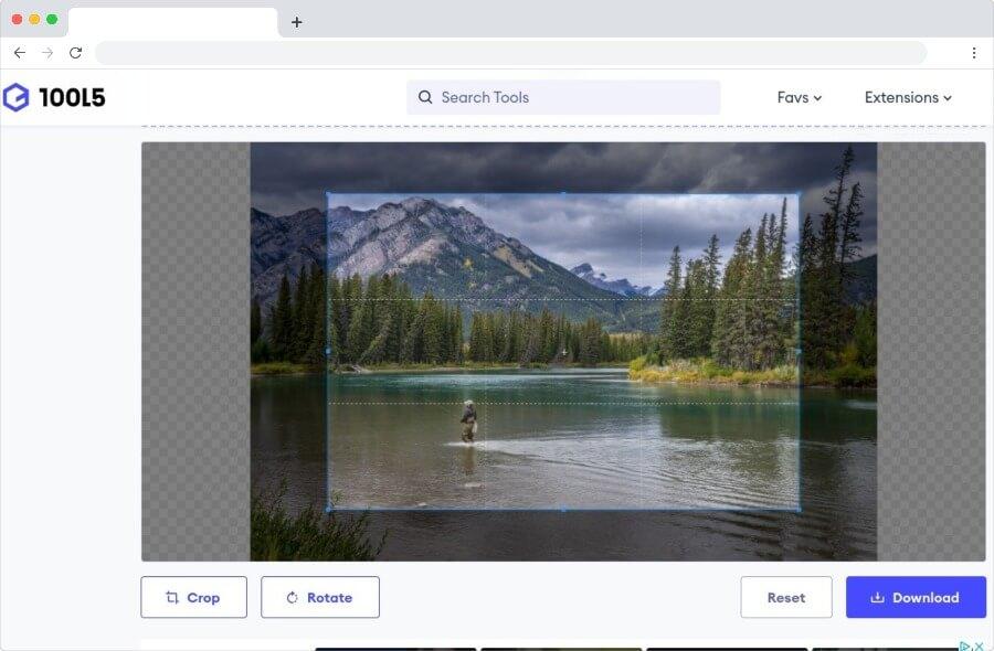 Online Image Cropper: utilitaire Web simple pour couper des images et des photos