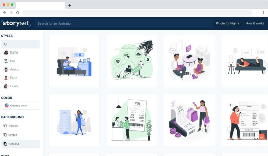 Storyset - Illustrations gratuites pour personnaliser et animer facilement