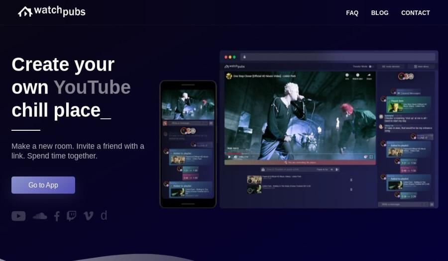 Watchpubs: créez des salles de chat pour regarder des vidéos YouTube avec vos amis