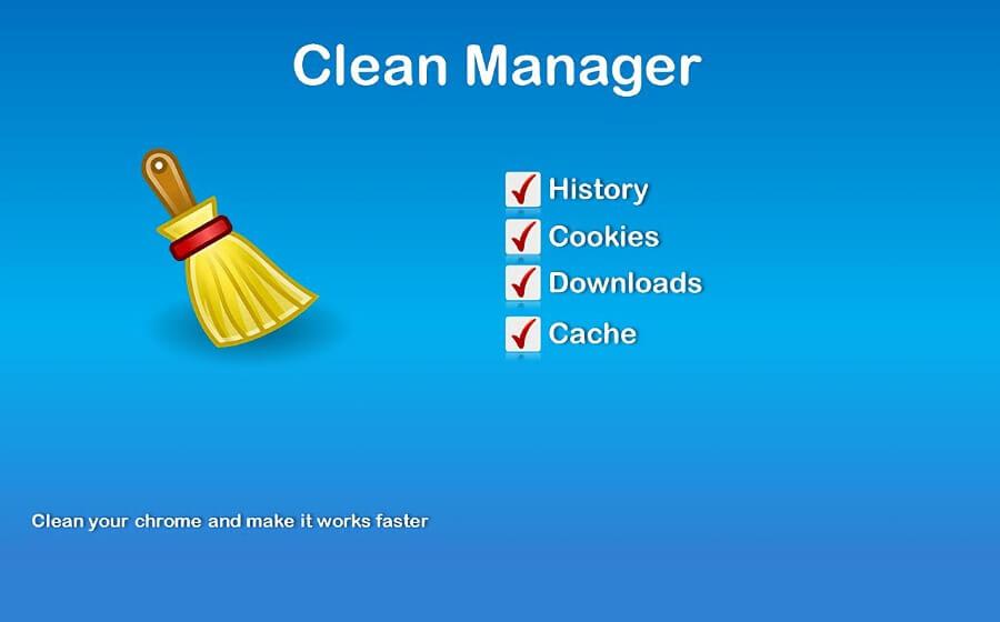 Clean Manager: une extension pour garder Chrome propre et rapide