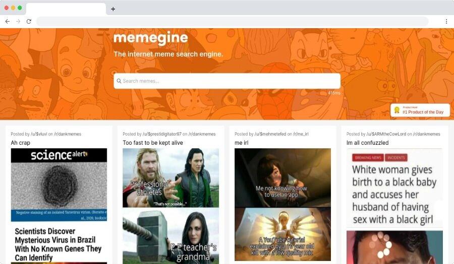 Memegine: un moteur de recherche pour trouver des centaines de milliers de mèmes
