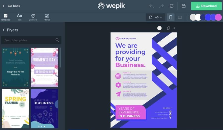 Wepik: outil gratuit pour créer facilement de superbes designs