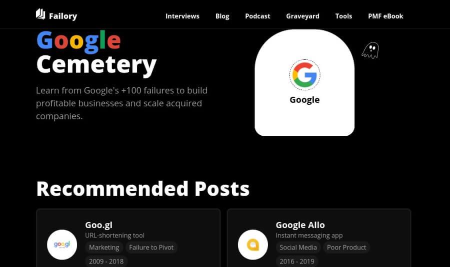 Cimetière Google : analyse de plus de 100 services fermés par Google