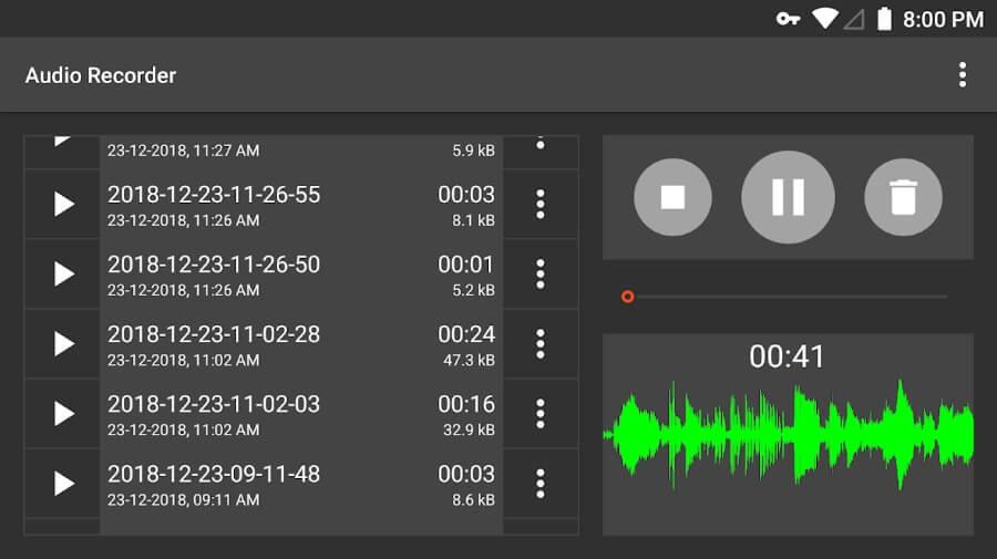 Enregistreur audio - Un excellent enregistreur audio gratuit pour Android
