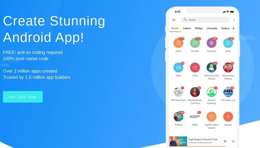 Créez l'application Android de votre blog ou de votre page gratuitement et sans avoir à coder