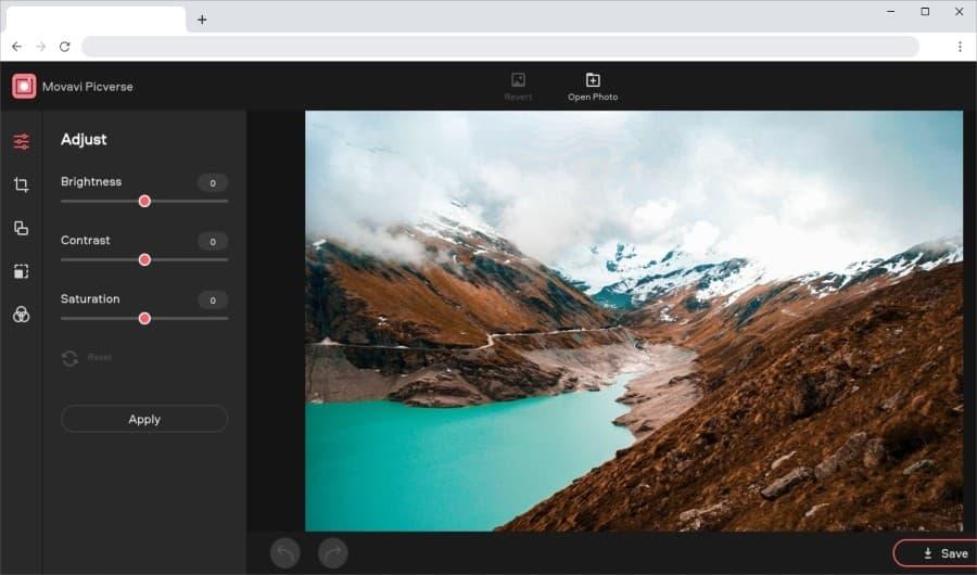 Movavi Picverse : un éditeur en ligne gratuit pour retoucher vos photos